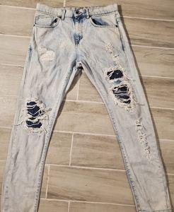 🔥🔥Skinny leg stone wash Zara man denim jeans